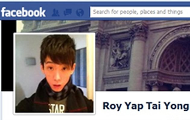 24-year-old law undergraduate Roy Yap is believed to have been killed in a horror car crash