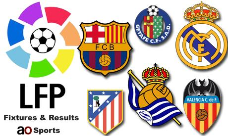 Spain La Liga fixtures and results (17th matchday)