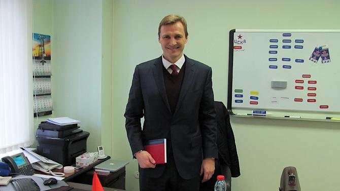 Retired NHL superstar Sergei Fedorov is the head manager of CSKA Moscow, the fabled Central Red Army team