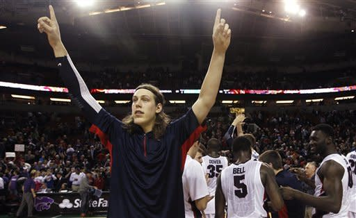 Olynyk leads No. 14 Gonzaga past K-State 68-52