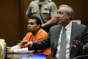 Chris Brown appears for a hearing at Criminal Courts in Los Angeles