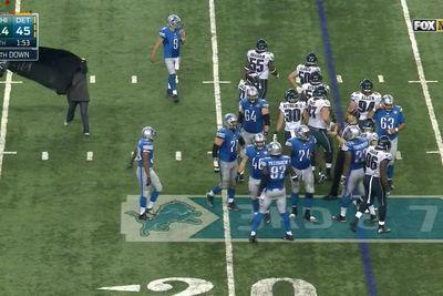 Animal rights activists storm the field during Lions-Eagles game