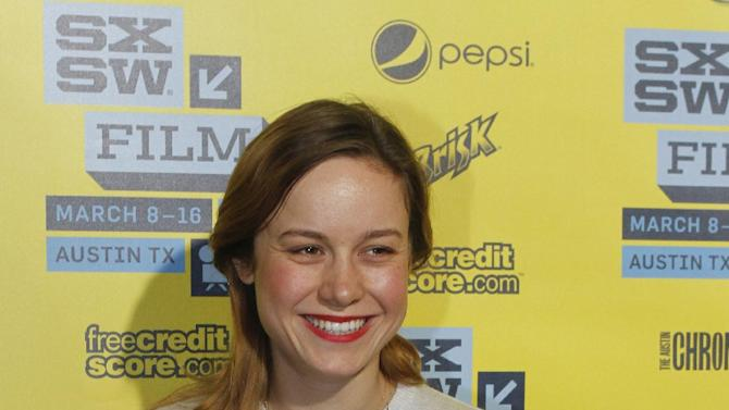 """Brie Larson arrives at a screening of """"Don Jon's Addiction at the SXSW Film Festival, on Monday, March 11, 2013 in Austin, Texas. (Photo by Jack Plunkett/Invision/AP Images)"""