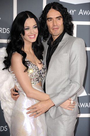 Katy Perry y Russell Brand/ WireImage