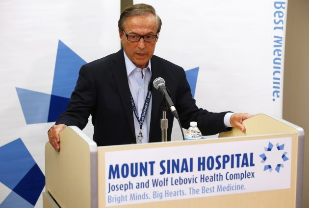 Dr. Zane Cohen of Mount Sinai Hospital speaks to media (Reuters)