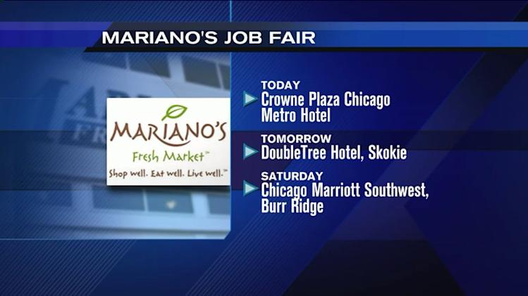Job fairs begin today to staff new Mariano`s stores