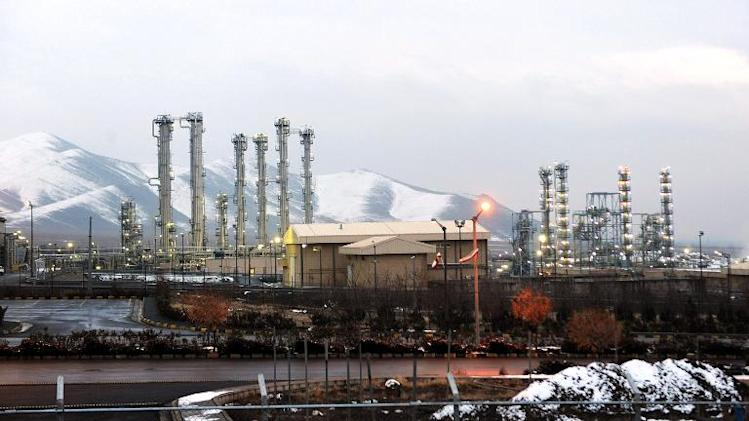 A picture taken on January 15, 2011, shows a general view of the heavy-water reactor facility at Arak, Iran