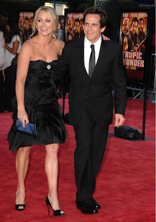 Tropic Thunder LA Premiere 2008 Christine Taylor Ben Stiller