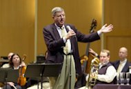 FILE - This March 27, 2003 file photo shows conductor and composer Marvin Hamlisch after being appointed the principal pops conductor for the Buffalo Philharmonic Orchestra at the Kleinhan&#39;s Music Hall in Buffalo, N.Y. Hamlisch, a conductor and award-winning composer best known for the torch song &quot;The Way We Were,&quot; died Monday, Aug. 6, 2012 in Los Angeles. He was 68. (AP Photo/Don Heupel, file)