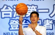 NBA Golden State Warriors&#39; Tawainese basketball player Jeremy Lin