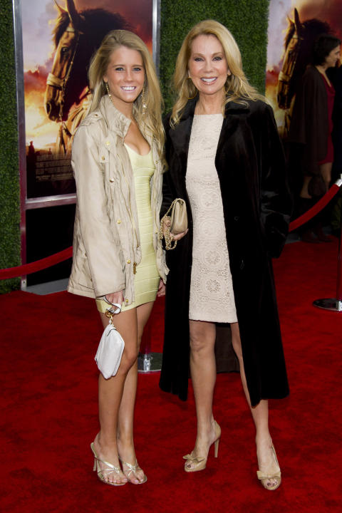 Kathie lee gifford and her daughter cassidy gifford attend the world
