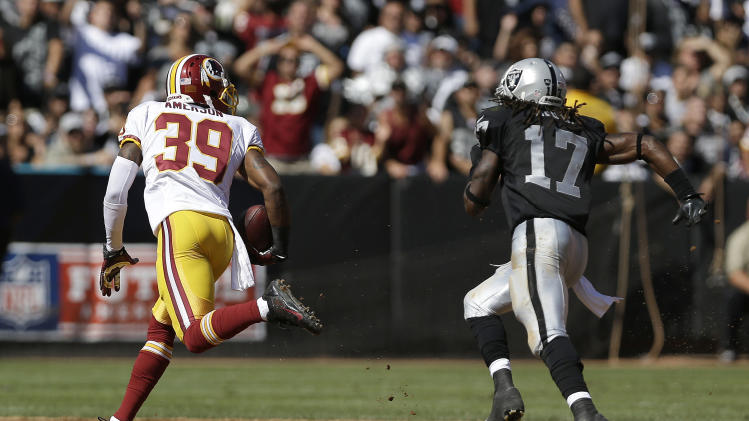 Redskins not boasting after win over lowly Raiders