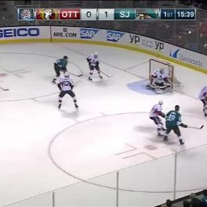 Andrew Hammond Save on Logan Couture (04:23/1st)