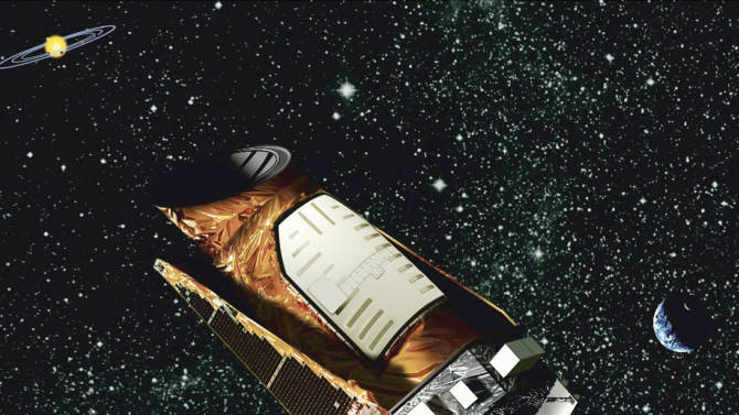 FILE - This artist's rendering provided by NASA shows the Kepler space telescope. NASA is calling off all attempts to fix the crippled space telescope. But it's not quite ready to call it quits on the robotic planet hunter. Officials said Thursday, Aug. 15, 2013 they're looking at what science might be salvaged by using the broken spacecraft as is. (AP Photo/NASA, File)