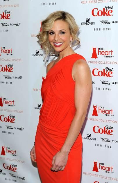 Elisabeth Hasselbeck strikes a pose at the Heart Truth Fall 2010 Fashion Week Show, Bryant Park, NYC, February 11, 2010  -- Getty Images