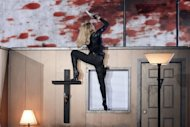 US singer Madonna performs on stage in France, July 14, 2012, during her MDNA world tour. The pop diva outraged fans in France who had paid more than 250 euros (300 dollars) per ticket by quitting the stage in Paris after barely 45 minutes on July 26