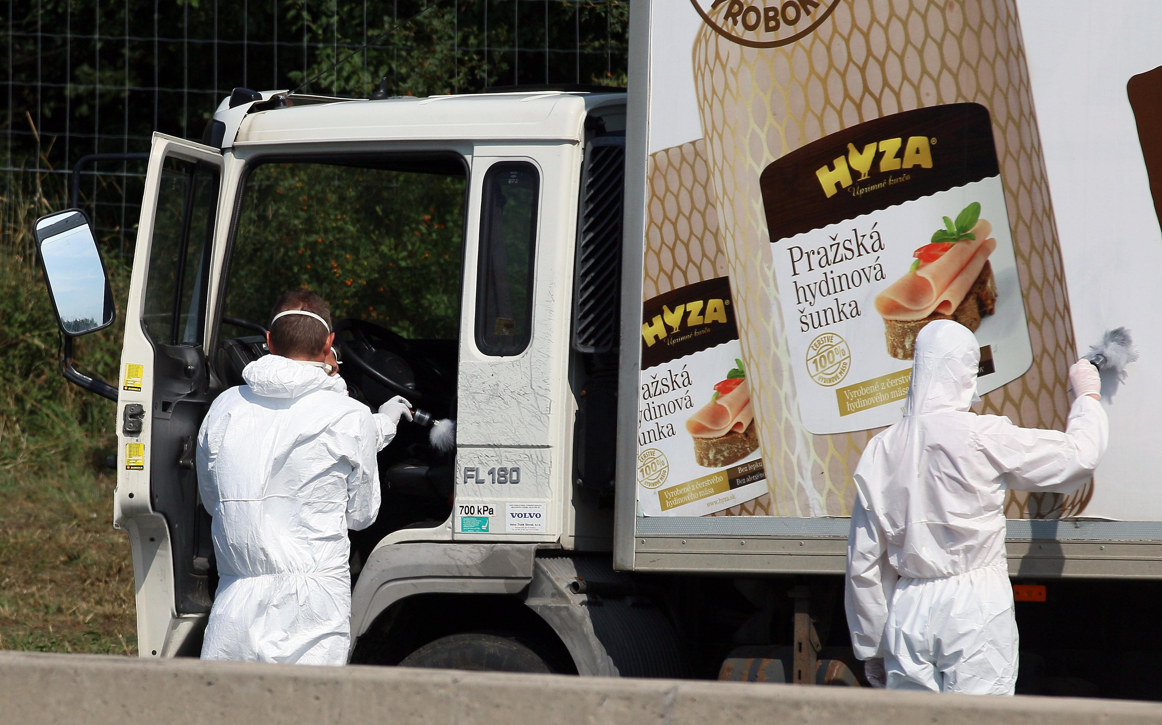 Austrian officials: 71 migrants likely suffocated in truck