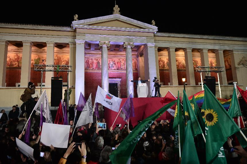 Syriza supporters hail Greek effect in Europe after historic win