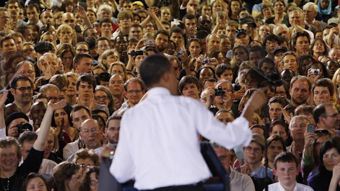 US President Obama speaks about health insurance reform during a visit to Portland