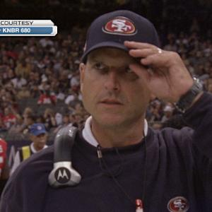 San Francisco head coach Jim Harbaugh on defensive end Ray McDonald: 'We'll not tolerate domestic violence'