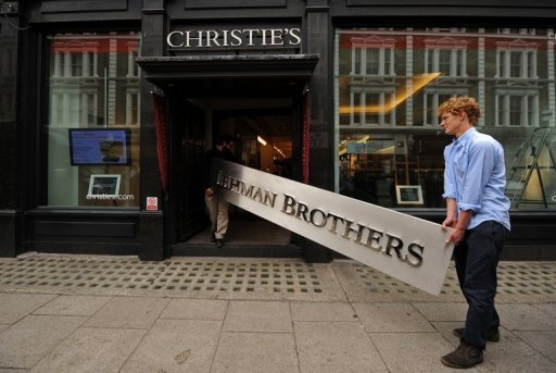 &lt;p&gt;A Lehman Brothers company sign appears at Christie&#39;s auction house in London in 2010. The liquidator of Lehman Brothers, the investment bank that collapsed spectacularly in the financial crisis, said Monday it had sold off a property unit for $6.5 billion.&lt;/p&gt;