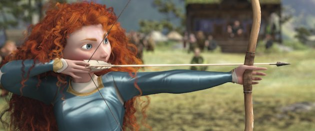 This film image released by Disney/Pixar shows the character Merida, voiced by Kelly Macdonald, in a scene from &quot;Brave.&quot; (AP Photo/Disney/Pixar)
