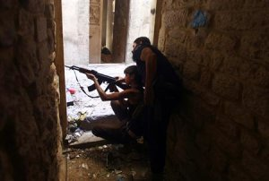 Ahmad Abu Layl, a 15 year-old fighter from the Free…