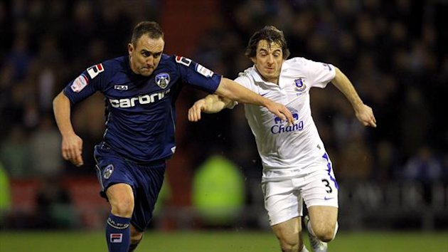 Lee Croft, left, is looking forward to renewing rivalries with Leighton Baines