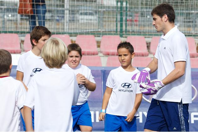 Iker Casillas Attends Hyundai Masterclass in Madrid