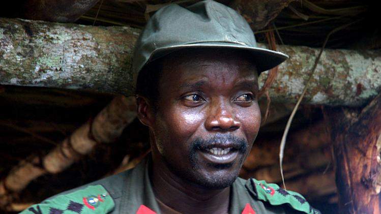 FILE - This July 31, 2006 file photo shows Joseph Kony, leader of the Lord's Resistance Army, during a meeting with a delegation of 160 officials and lawmakers from northern Uganda and representatives of non-governmental organizations in Congo near the Sudan border. An activist group based in Southern California is getting worldwide attention for a video that documents wartime atrocities in Africa. The film released Monday, March 7, 2012 is part of an effort called KONY 2012. It targets the Lord's Resistance Army and its leader, Joseph Kony, a bush fighter wanted by the International Criminal Court for crimes against humanity. (AP Photo, File)