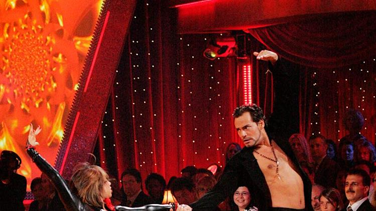 Cheryl Burke and Cristian De La Fuente perform a dance on the sixth season of Dancing with the Stars.