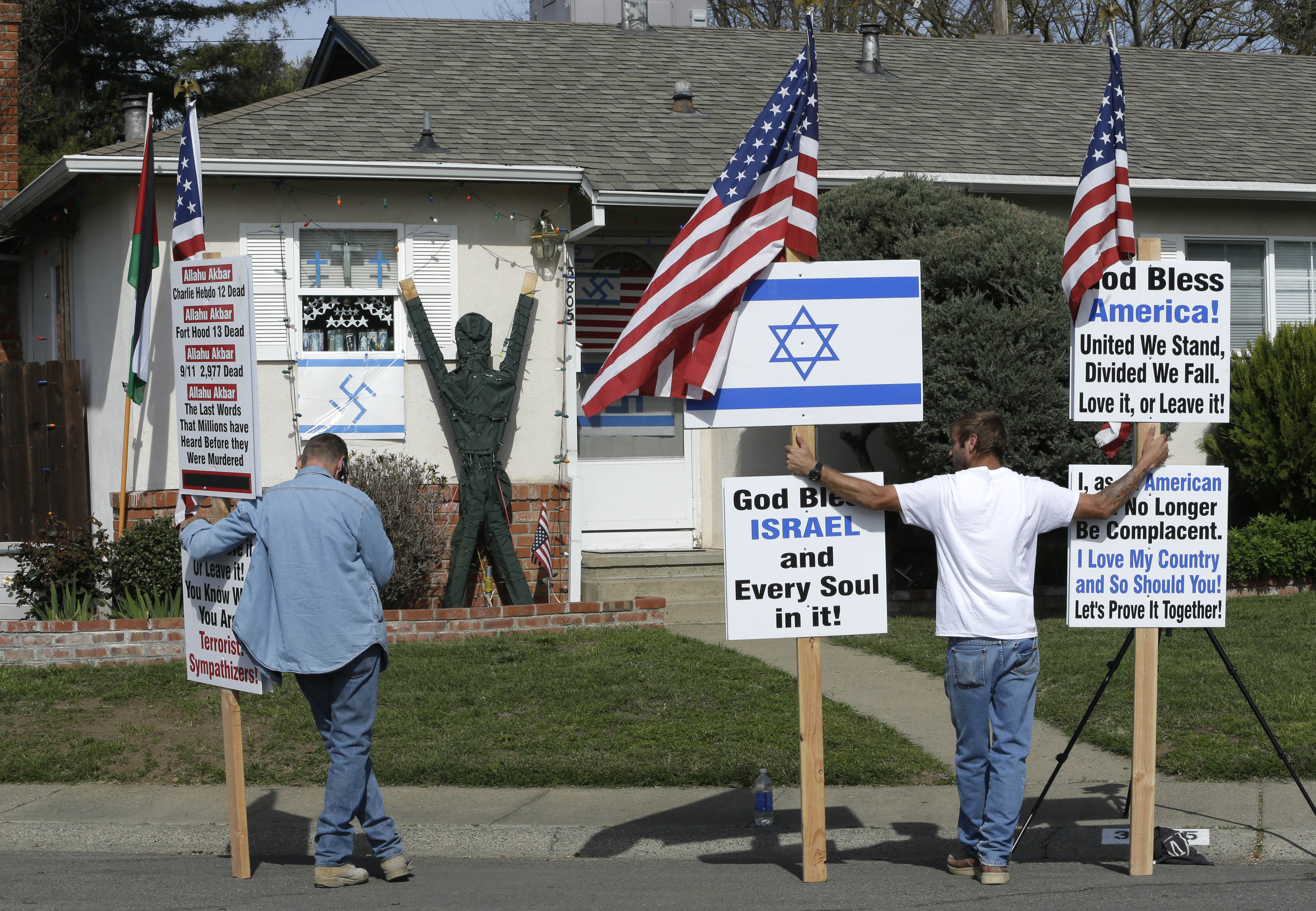 Lawmakers demand swastikas be removed from California house