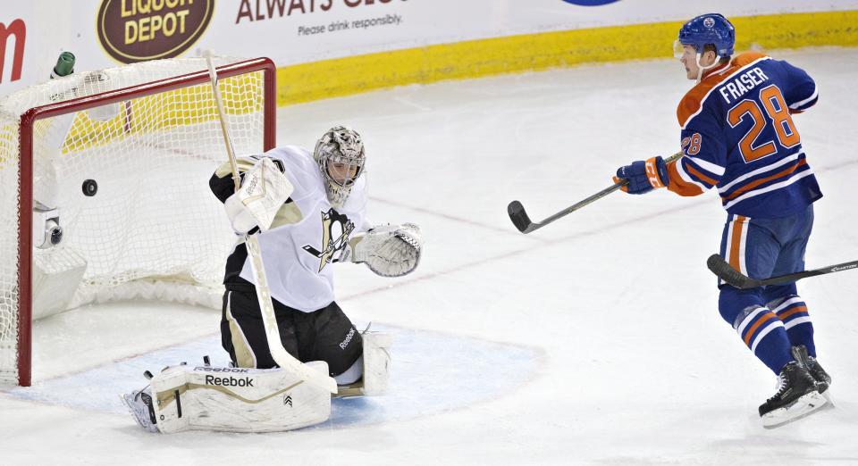 Fleury gets 7th shutout of season as Penguins top Oilers 2-0