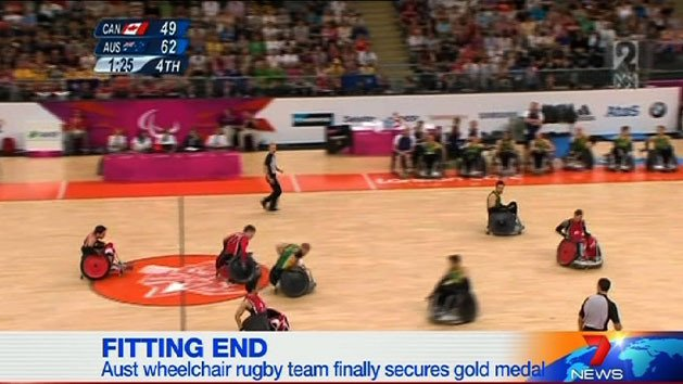 Aust wheelchair rugby team claim gold