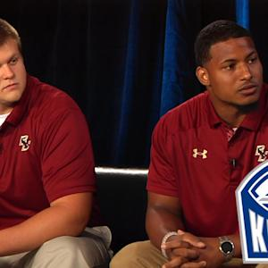 Boston College's Andy Gallik & Dominique Williams Preview 2014 Season | #ACCkickoff