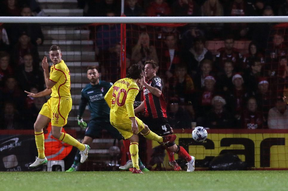 Liverpool advances in League Cup; Brooks scores in Germany