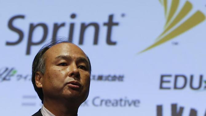 Softbank Corp President Masayoshi Son speaks during a news conference in Tokyo