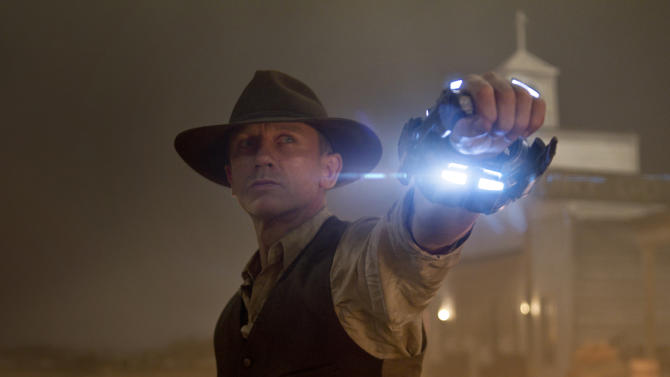 """In this publicity image released by Universal Pictures, Daniel Craig is shown in a scene from """"Cowboys & Aliens."""" (AP Photo/Universal Pictures, Timothy White)"""