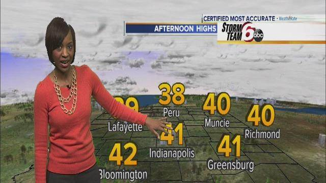 Tuesday's Forecast: Partly cloudy with warmer temps