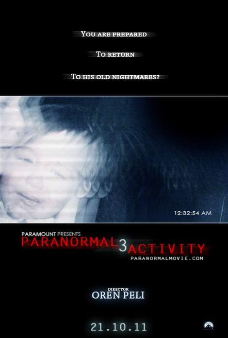 """Paranormal Activity 3"" movie poster."