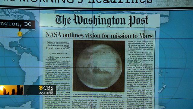 Headlines at 8:30: NASA thinking about mission to Mars