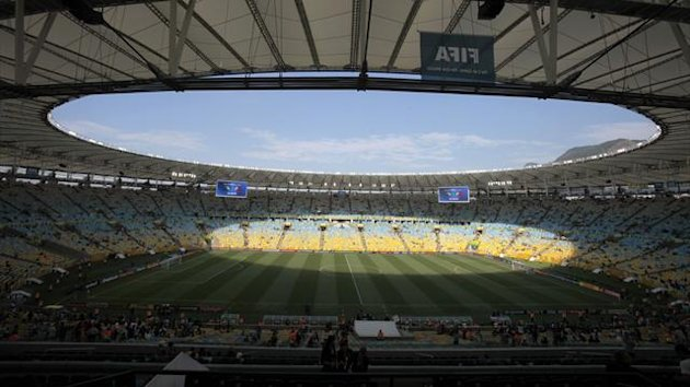 A general view shows the Estadio Maracana before the Confederations Cup Group A soccer match between Mexico and Italy in Rio de Janeiro June 16, 2013. (Reuters)