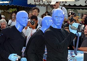 Blue Man Group at the Westwood premiere of 20th Century Fox's Robots