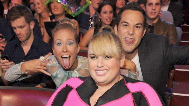 Skylar Astin, Anna Camp and Rebel Wilson