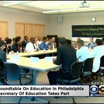 Roundtable Discussion On Education Draws The Secretary Of Education To Philadelphia