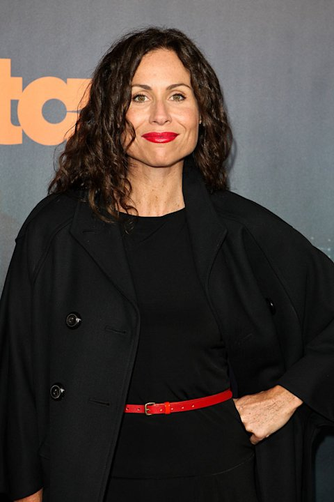 "Minnie Driver arrives at the premiere of Starz's ""Boss"" at ArcLight Cinemas on October 6, 2011 in Hollywood, California."