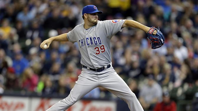 Cubs beat Brewers 4-0 behind Hammel, Castro