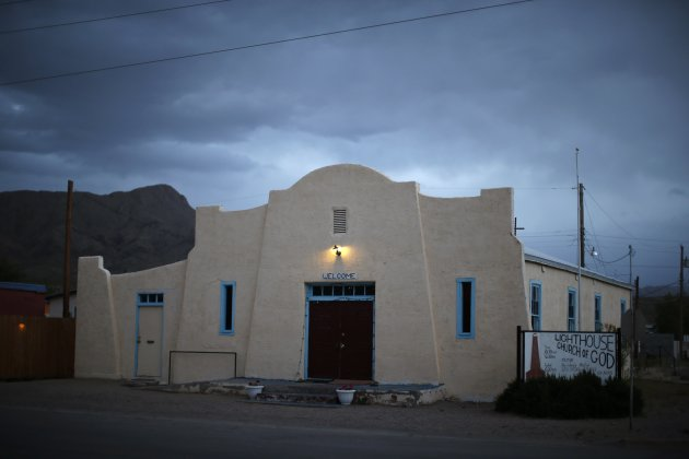 A church is seen in downtown Truth or Consequences, New Mexico. REUTERS/Lucy Nicholson