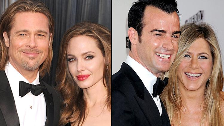 Brad Pitt, Angelina Jolie, Jennifer Aniston, Justin Theroux