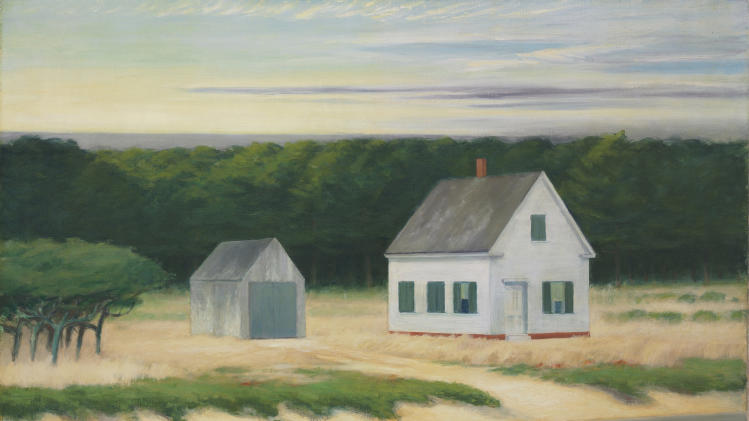 This undated photo provided by Christie's shows a painting of a Cape Cod autumn scene by Edward Hopper.  The large-scale painting  is coming to auction in  New York City and is expected to sell for $8 million to $10 million when it is put up for sale by Christie's on Nov. 28. (AP Photo/Christie's)